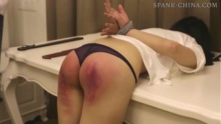 Chinese Girl Receives a Long and Painful Paddling in a Hostel